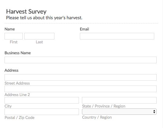 Free Online Form and Survey Templates - EmailMeForm