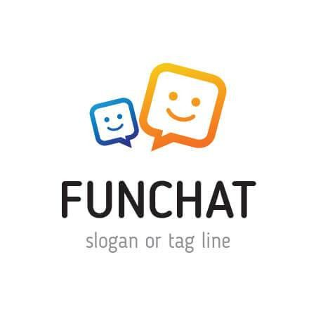 Premium Fun Chat Logo Template Design