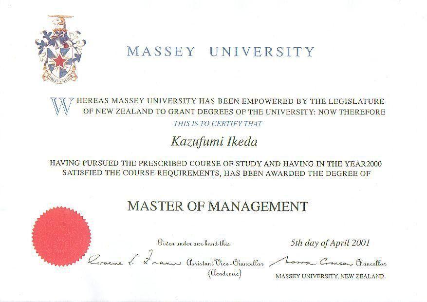Master's Degree Program
