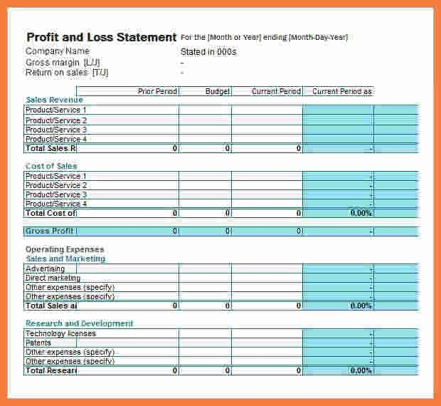 Profit And Loss Statement For Self Employed 104 [Template ...