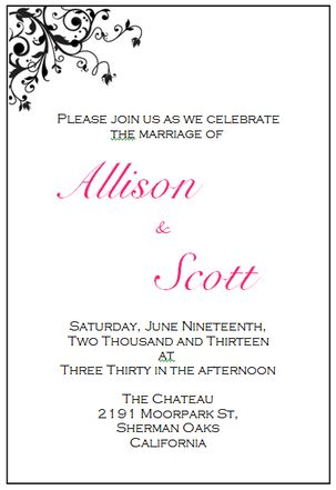 Download your free wedding invitation printing templates here:
