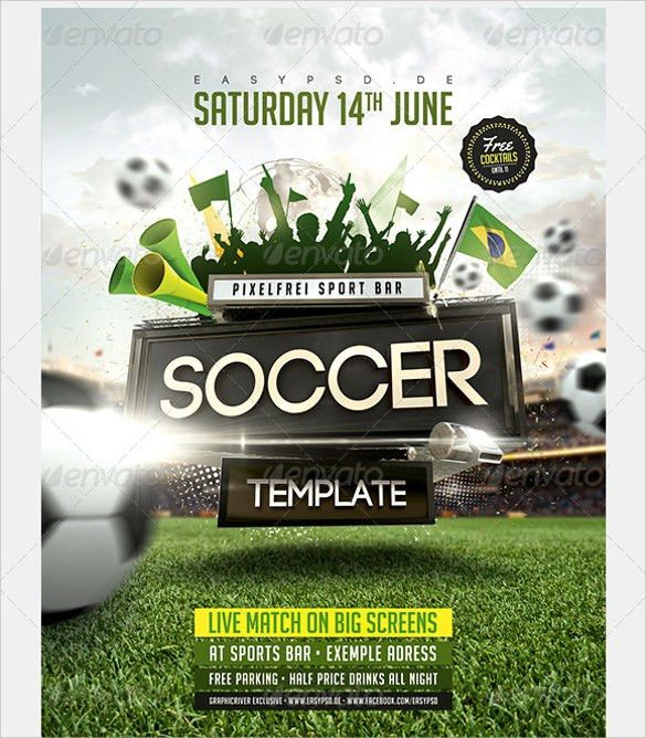 Soccer Flyer Template - 18+ Download in Vector EPS , PSD