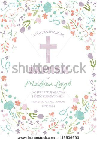 Blue Boys First Holy Communion Invitation Stock Vector 308828867 ...