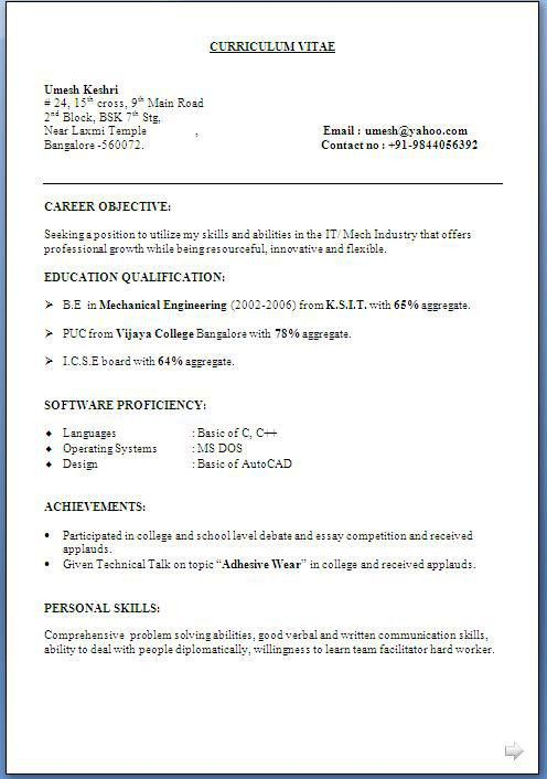 What Is The Best Resume Format Best Resume Templates 26102 | Plgsa.org