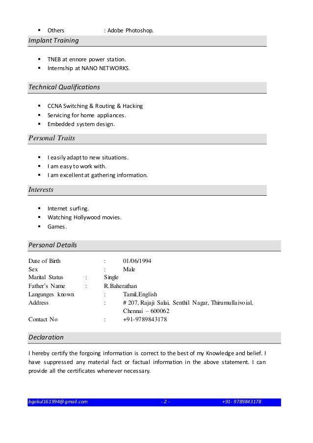Resume CCNA FRESHER