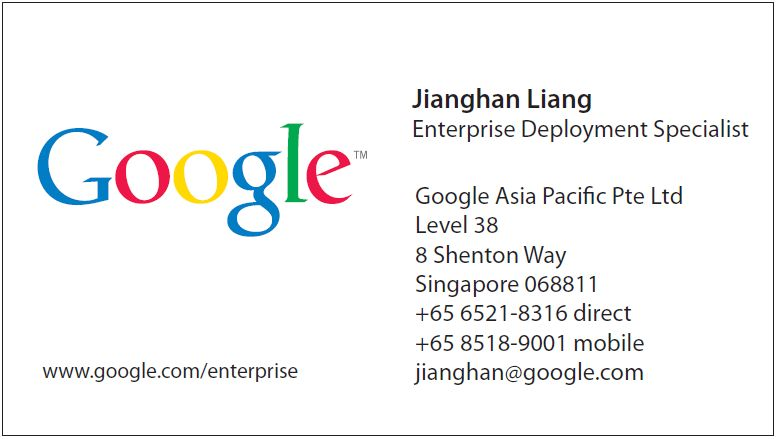 Eventus Google Namecard