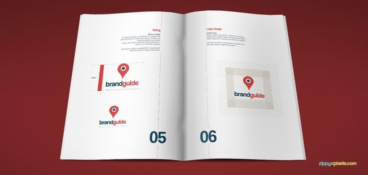 Artistic Brand Book Template - Logo Usage & Variations ...