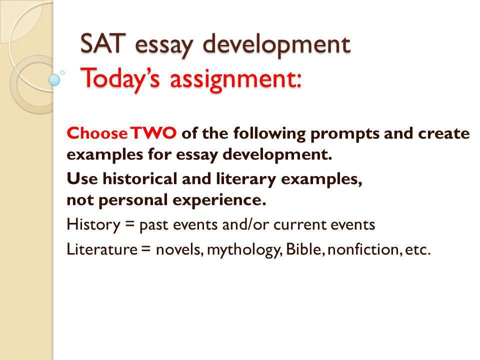 essay. literaturehistorical examples for sat essay college ...
