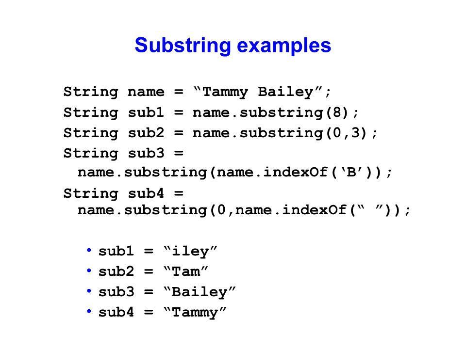 String Manipulation. Java String class  The String class ...