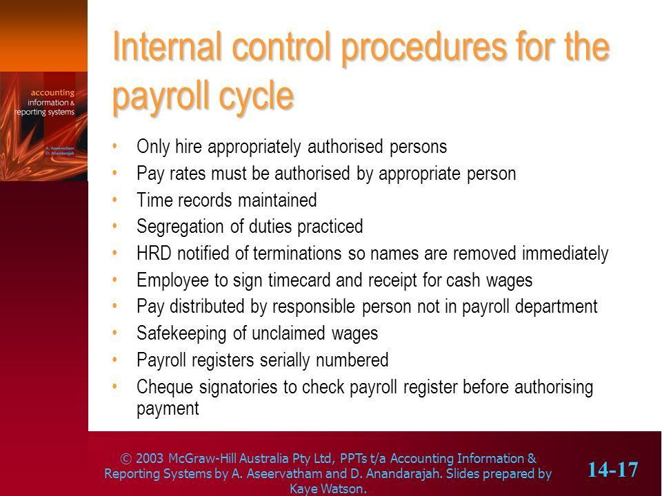 The payroll cycle Learning objectives - ppt download