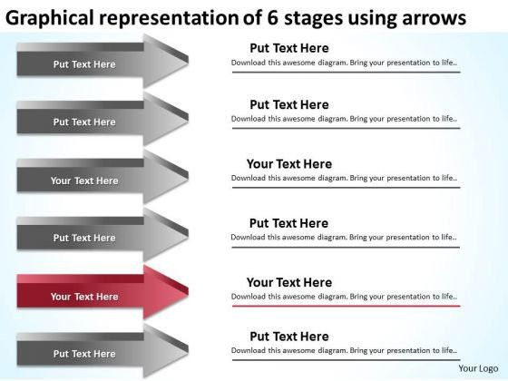 6 Stages Using Arrows Executive Summary Example Business Plan ...