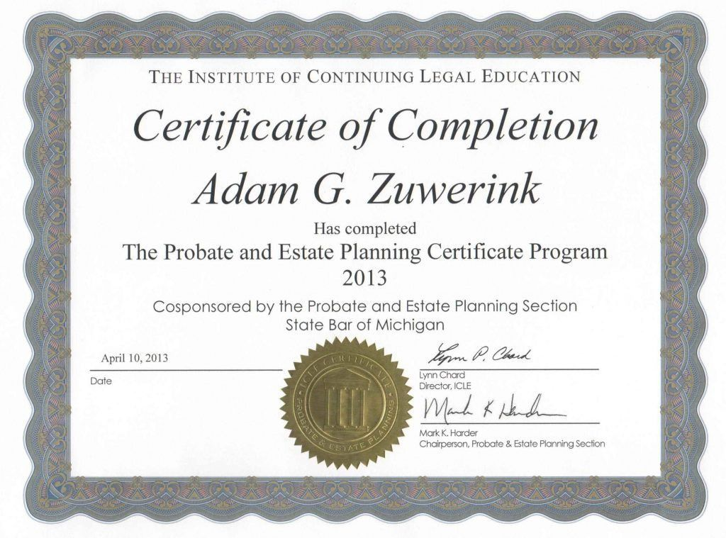 Examples Of Certificates Of Completion - Template Update234.com ...
