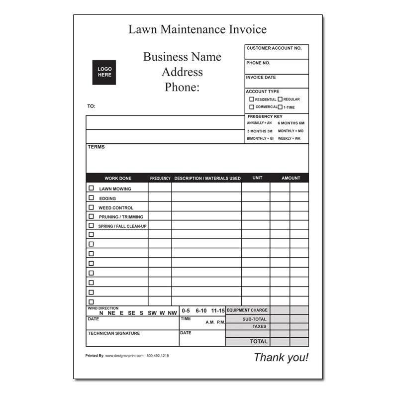 lawn care forms