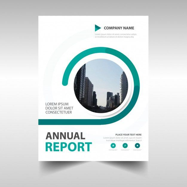 Abstract green circular annual report template Vector | Free Download
