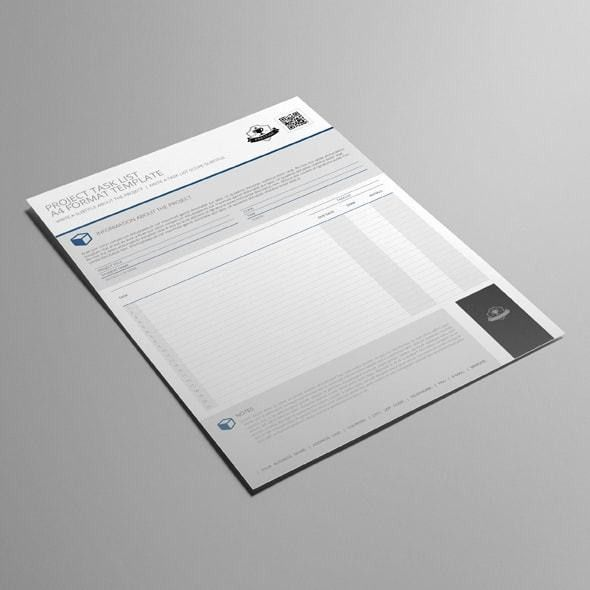 Task List Format. Project Task List A4 Format Template ...