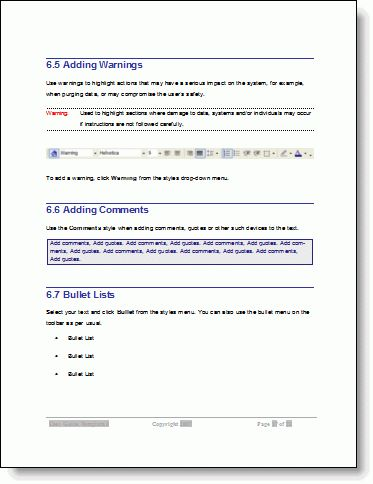 User Guide - Download MS Word sample Template and how-to instructions