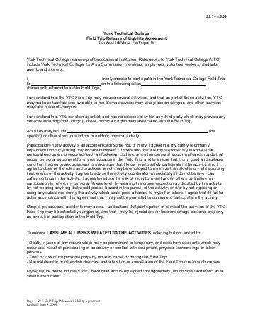 Babysitter Referral Agreement & Release Of Liability - Bretton Woods
