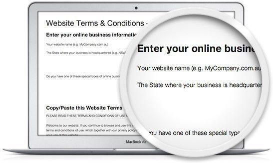 Website Terms & Conditions Template | Legal123.com.au