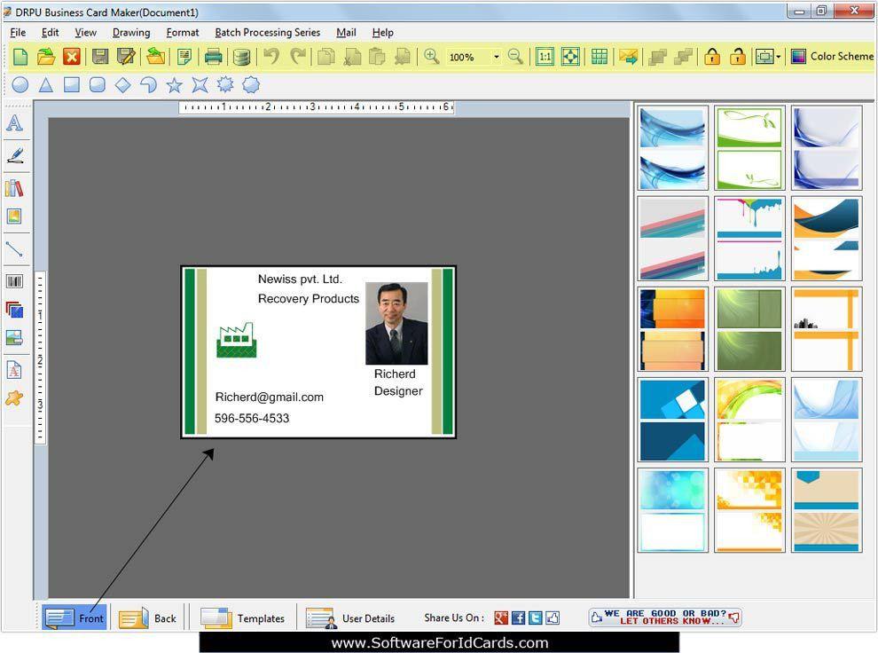 Business Cards Designing Software design print visiting membership ...