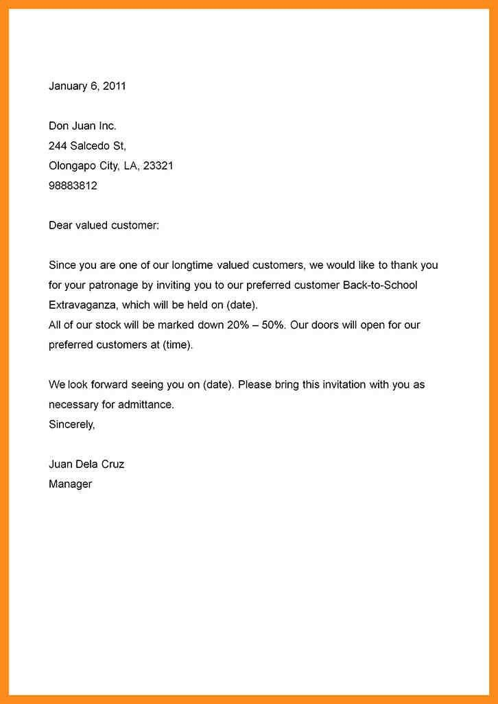 Business Letter Invitation To An Event | Cvletter.csat.co