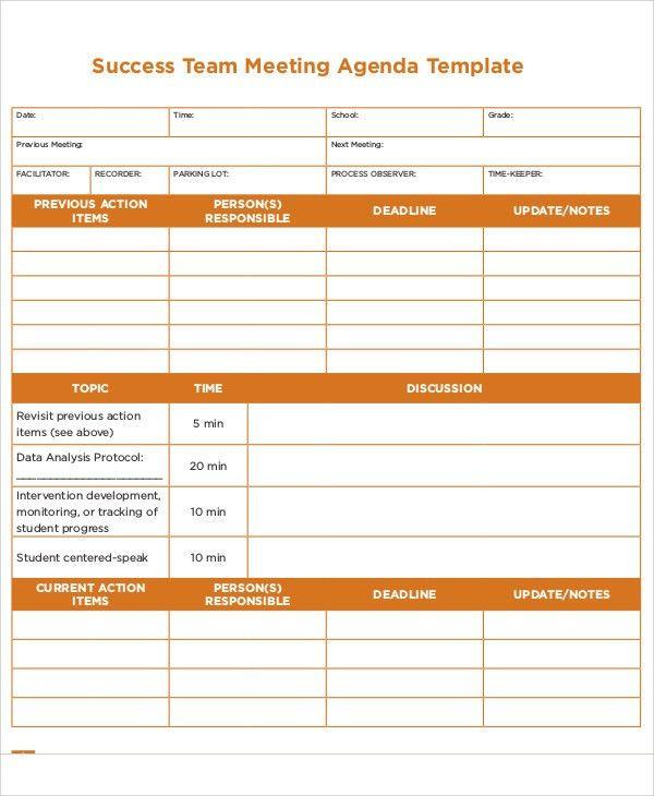 Action Agenda Templates -7+ Free Word, PDF Format Download | Free ...