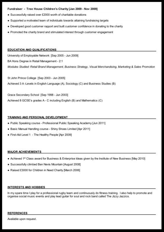 Interests and hobbies resume examples
