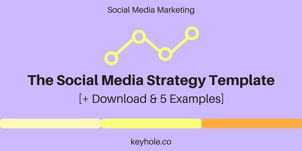 Social Media Strategy Template Download | Keyhole