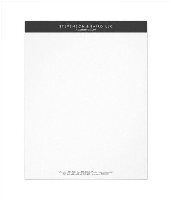 15+ Professional Letterhead Templates – Free Sample, Example ...