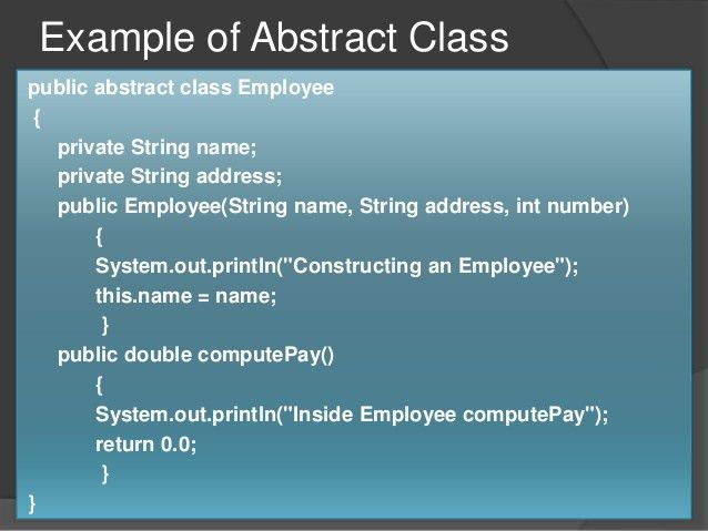Java abstract class & abstract methods