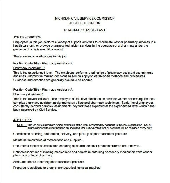 Pharmacist Job Description Template – 10+ Free Word, PDF Format ...