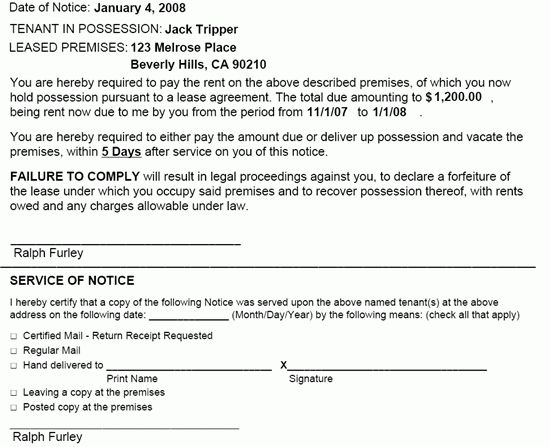 Notice to Pay Rent or Quit | EZ Landlord Forms
