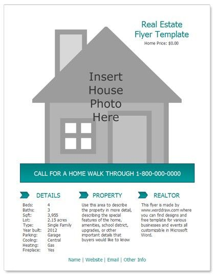 24 Stunning Real Estate Flyer Templates - Demplates