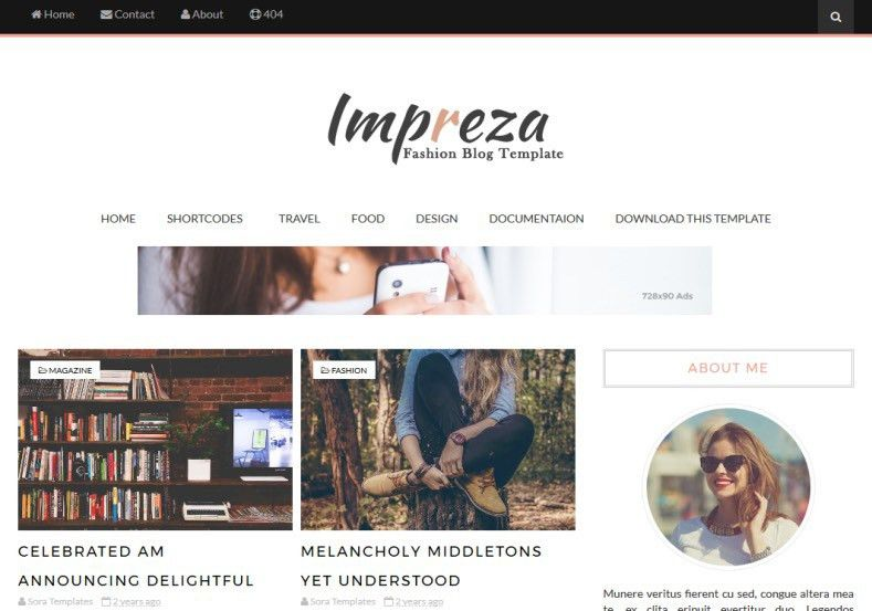 Impreza Blogger Template • Blogspot Templates 2017