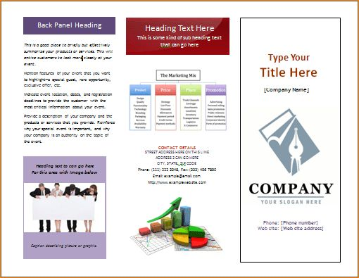 5+ microsoft word pamphlet template | Outline Templates