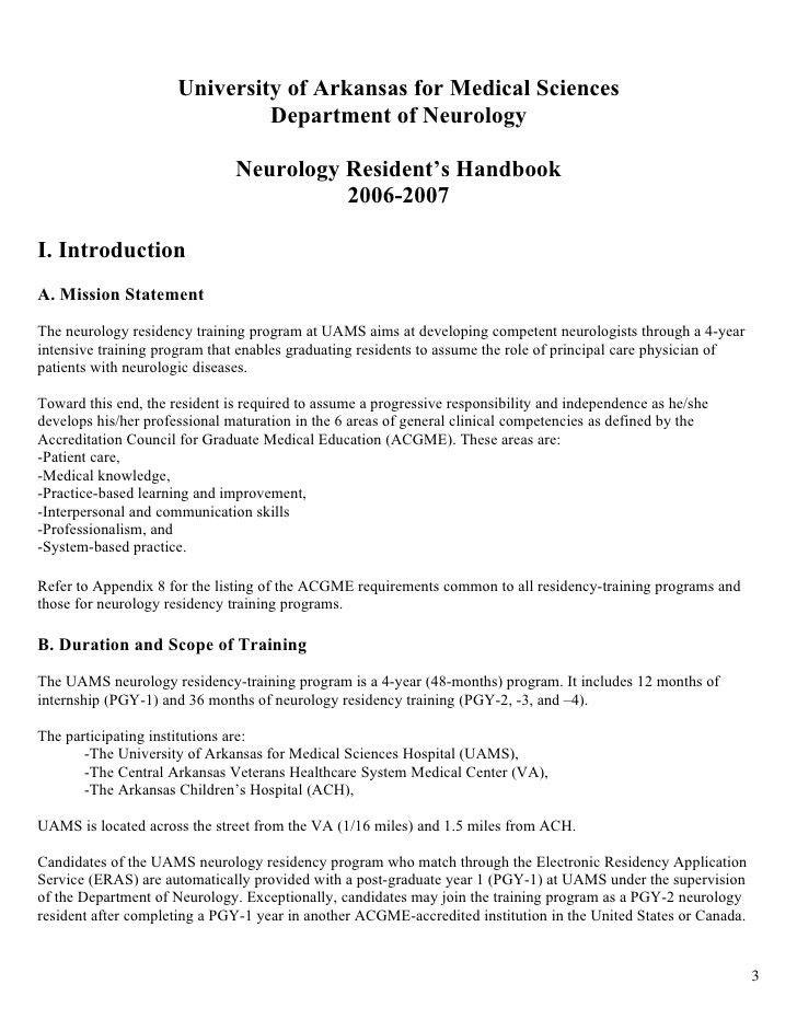 residency cover letter