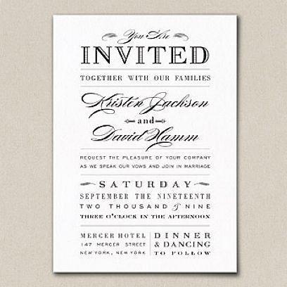 Wedding Invitation Word Template - vertabox.Com