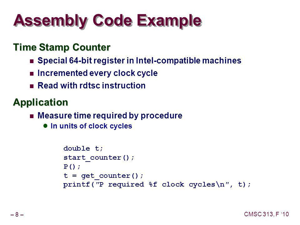 Assembly Language and Computer Organization Topics: Theme ...