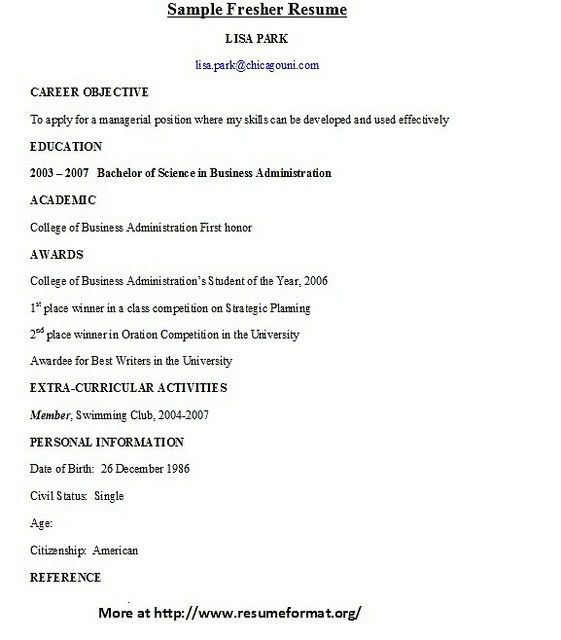 image result for resume samples bcom freshers. fresher engineering ...