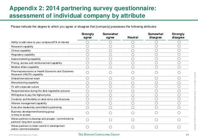 2014 Biopharmaceutical Partnering Survey