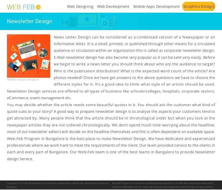 Newsletter design | Newsletter design