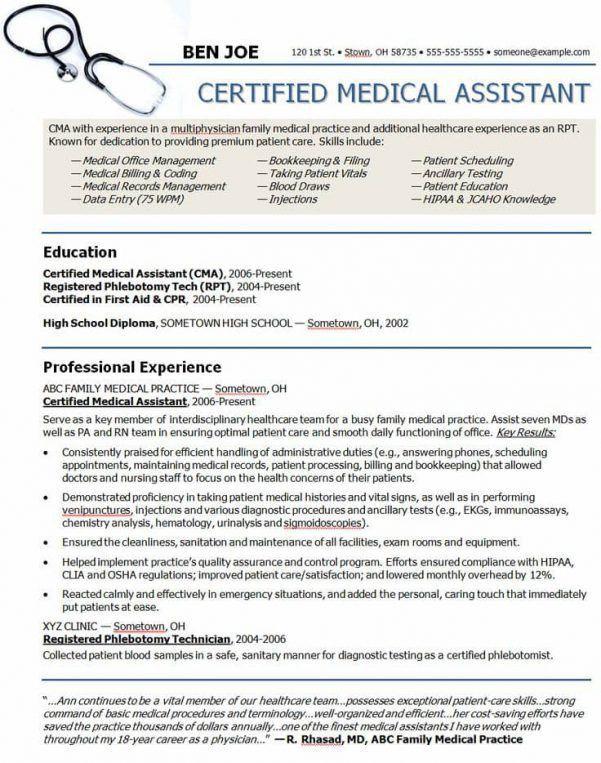 professional medical resume