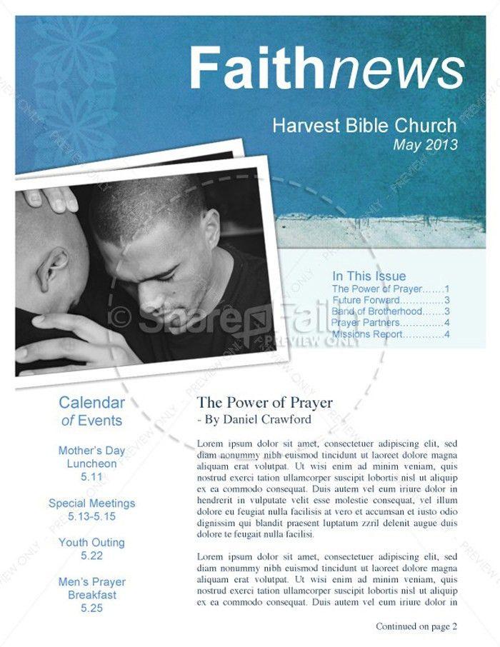 15 Free Church Newsletter Templates - MS Word, Publisher - DesignYep
