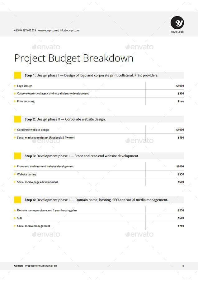 Proposal Template. Proposal-Preview-Set/10_Budget Jpg Proposal ...