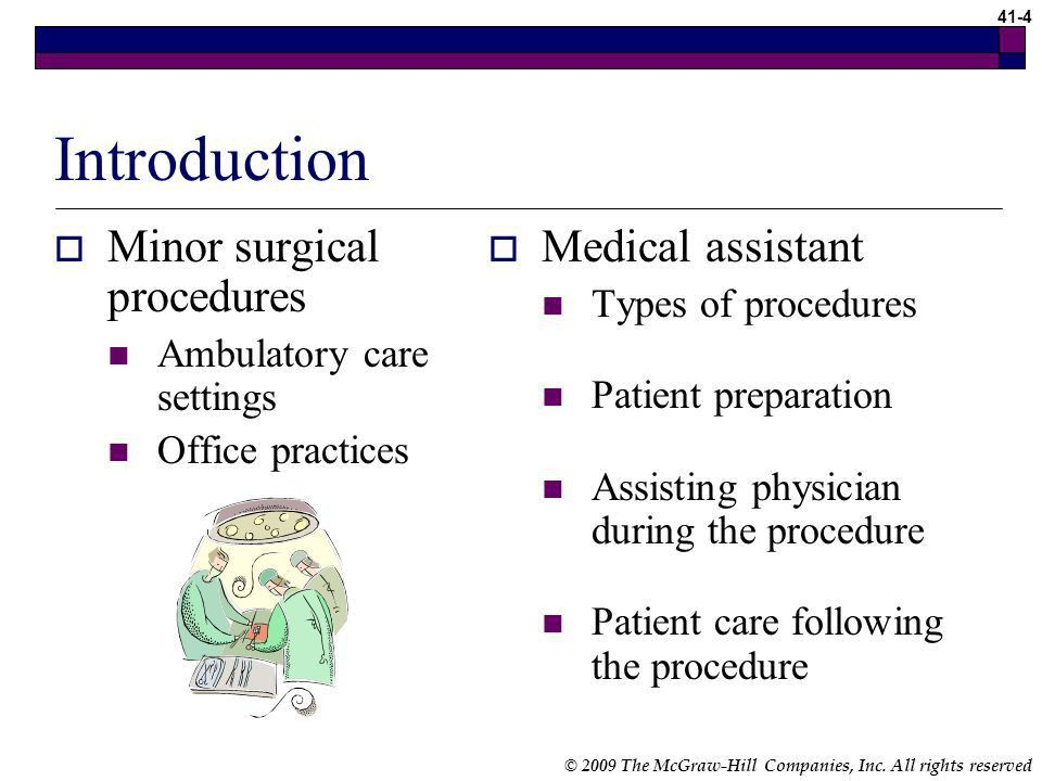 Chapter 41 Assisting with Minor Surgery Medical Assisting - ppt ...