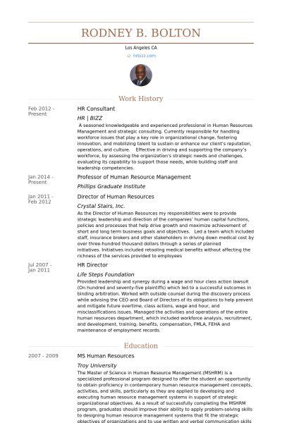 Hr Consultant Exemple de CV - Base de données des CV de VisualCV