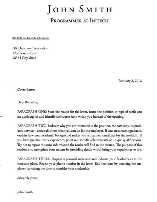 25 best ideas about sample resume cover letter on pinterest ...