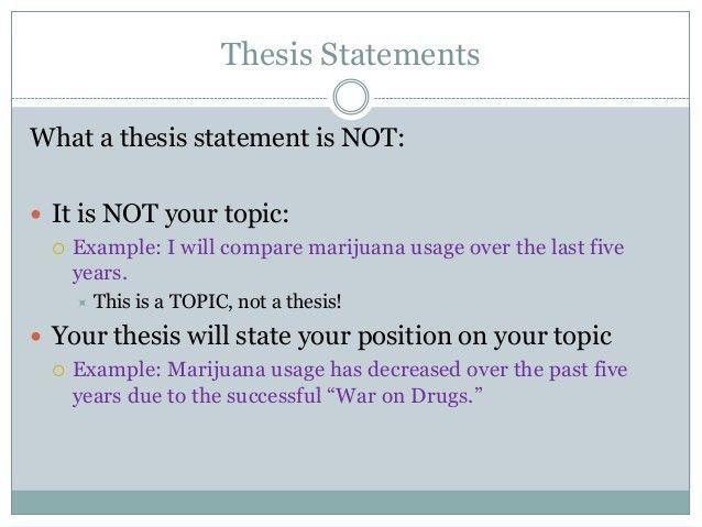 thesis argumentative essay