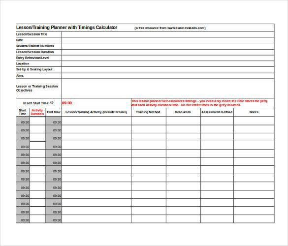 Lesson Plan Template - 60+ Free Word, Excel, PDF Format | Free ...