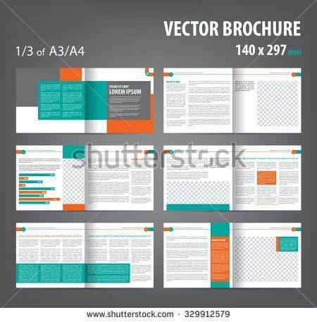 Vector Empty Bifold Brochure Print Template Stock Vector 329912579 ...
