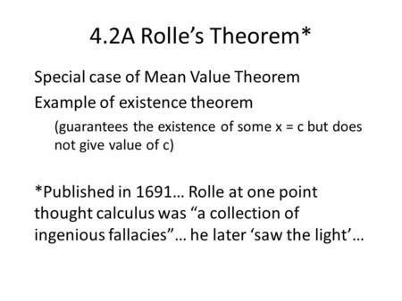 2. Rolle's Theorem and Mean Value Theorem - ppt download